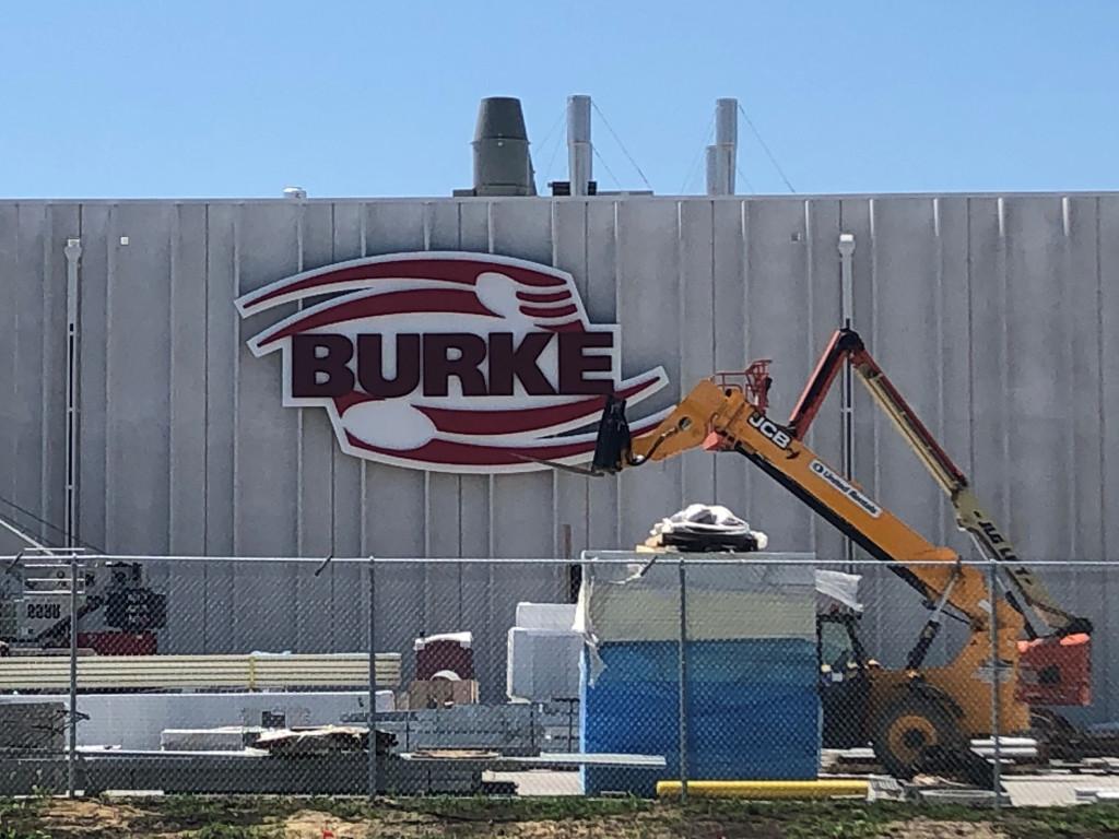 New Burke Sign in Nevada, Iowa